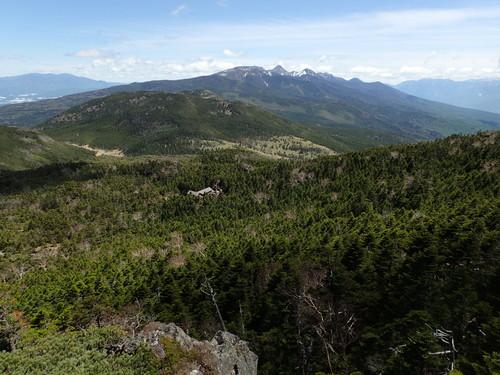 北横岳山頂付近から見る南八ヶ岳