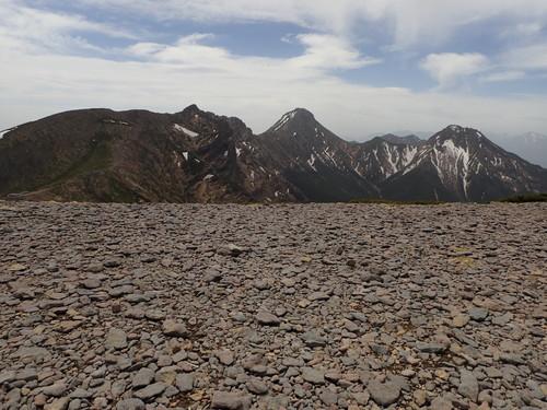 硫黄岳山頂からの眺め