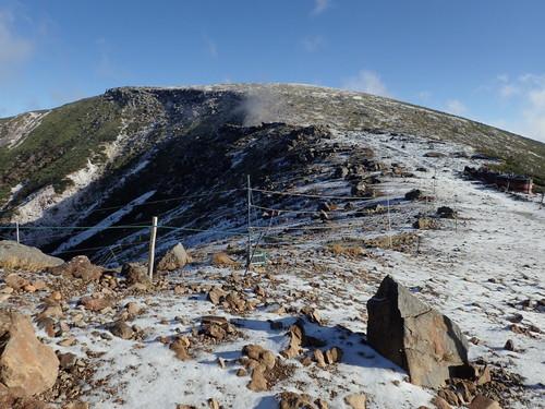 雪化粧の硫黄岳