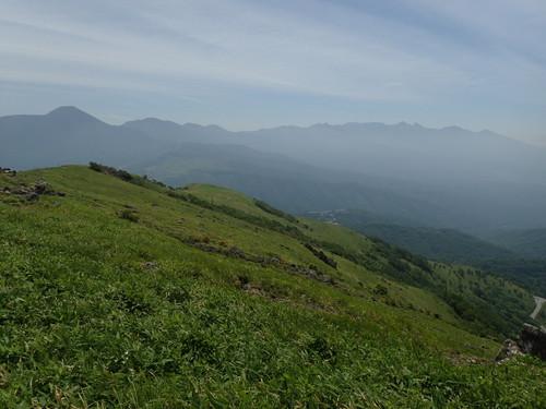 車山山頂から見る八ヶ岳