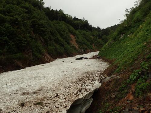 一ノ沢の雪渓