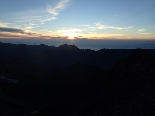 奥穂高岳山頂からのご来光