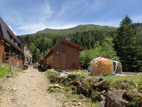 オーレン小屋から見る硫黄岳