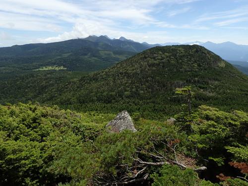 縞枯山展望台からの眺め