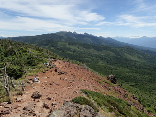 茶臼山展望台から見る南八ヶ岳の山々