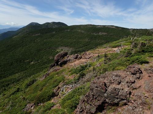 茶臼山展望台から見る蓼科山
