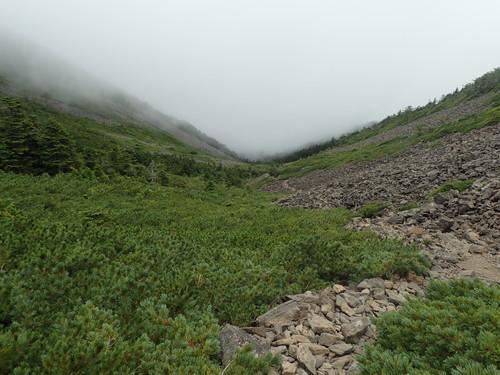 白鳳峠下のゴーロ