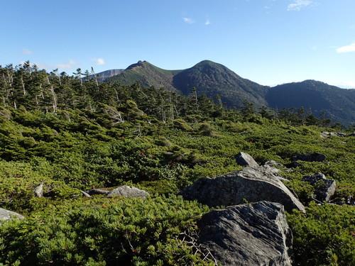 中山展望台から見る天狗岳