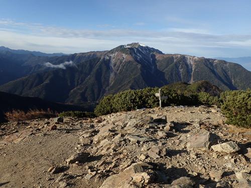 駒津峰から見る仙丈ヶ岳