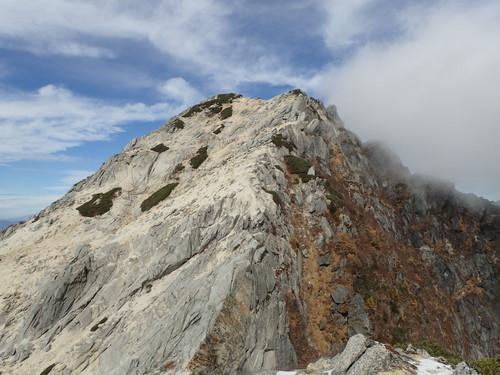 摩利支天から見る甲斐駒山頂