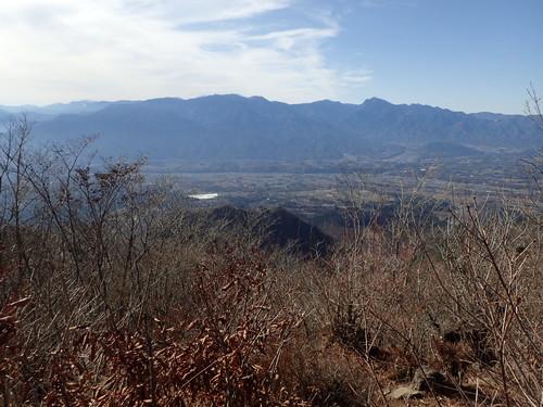 茅ヶ岳山頂から見る南アルプス