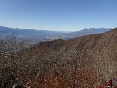 茅ヶ岳山頂から見る北アルプスや乗鞍岳