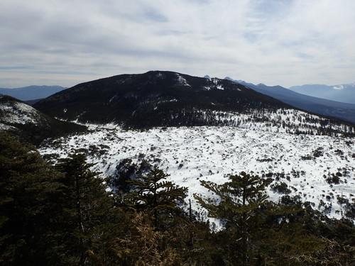 北横岳の登り途中