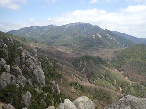 瑞牆山から見る金峰山