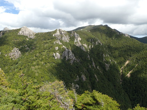 鷹見岩から見る金峰山