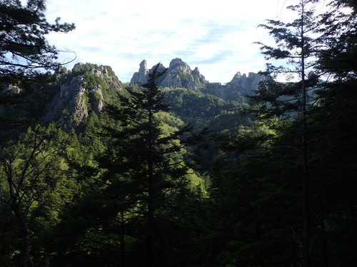 途中から見る瑞牆山
