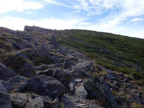 硫黄岳の登り