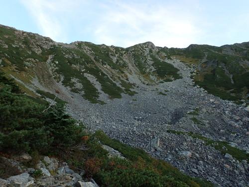 三峰岳下の登山道