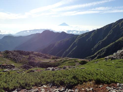 間ノ岳への分岐