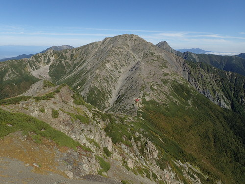 西農鳥岳から見る間ノ岳